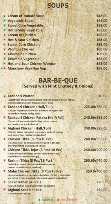 Handi restaurant menu menu v re taur cii handi restaurant for F salon vaishali nagar