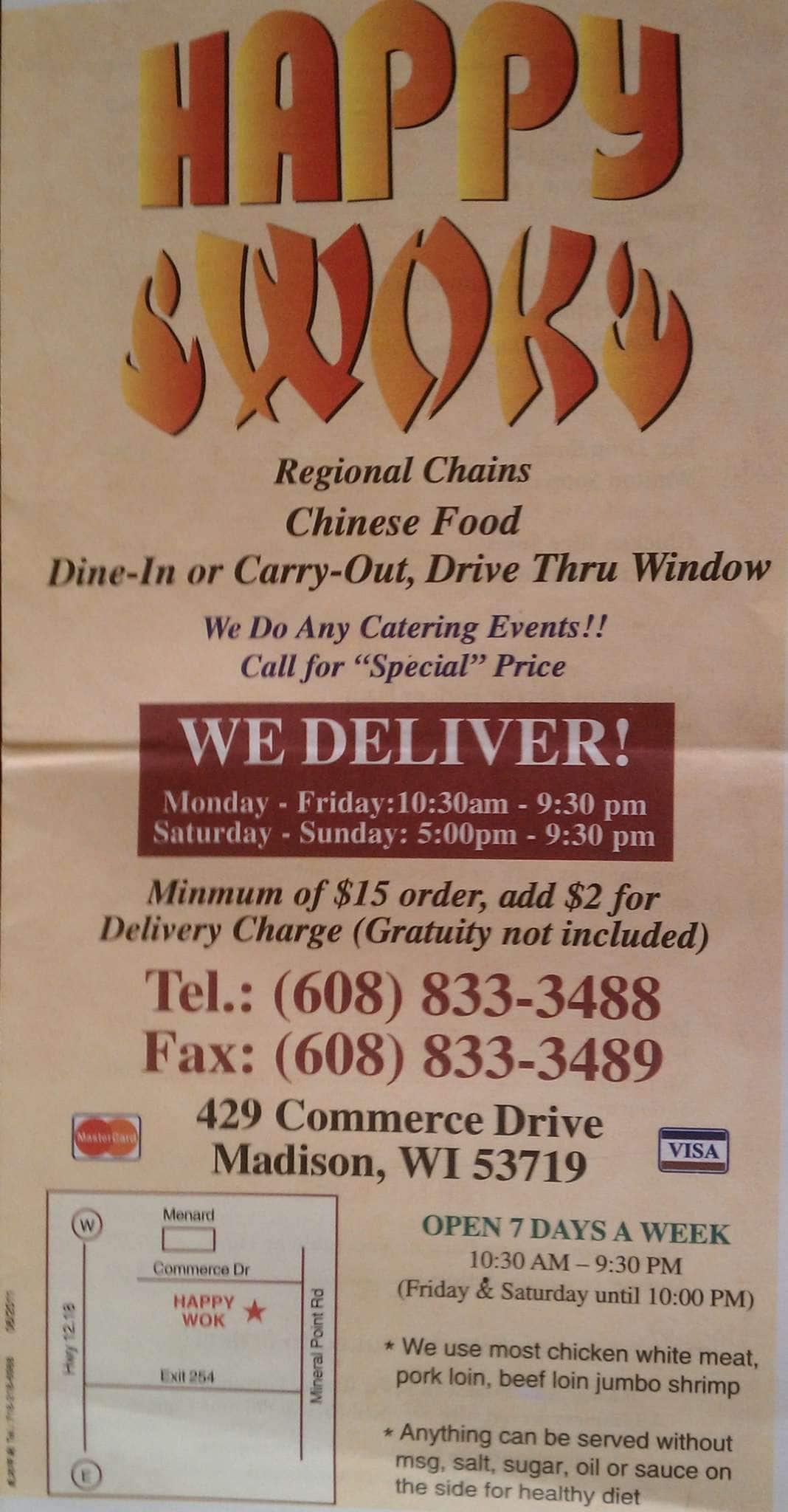 Happy wok coupons madison wi