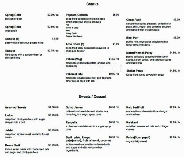 Gazebo Menu For Mississauga Toronto
