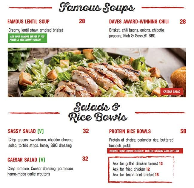 Famous Dave S Barbecue Menu Menu For Famous Dave S Barbecue Tourist Club Area Al Zahiyah Abu Dhabi