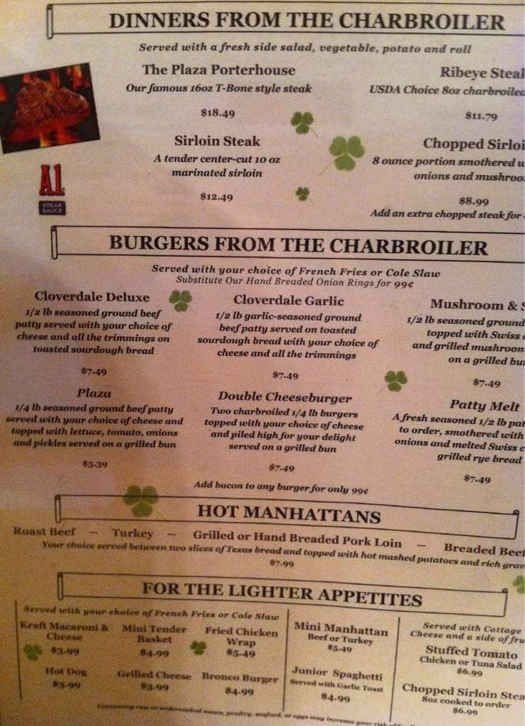 Menu At Cloverdale Travel Plaza Restaurant Cloverdale