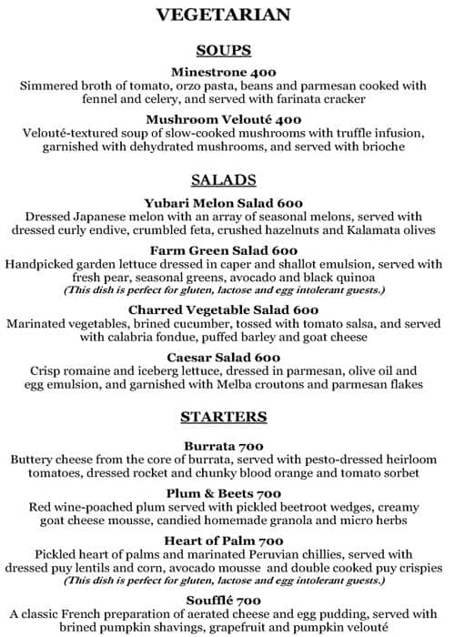 Olive Bar Kitchen Menu Menu For Olive Bar Kitchen Mehrauli New
