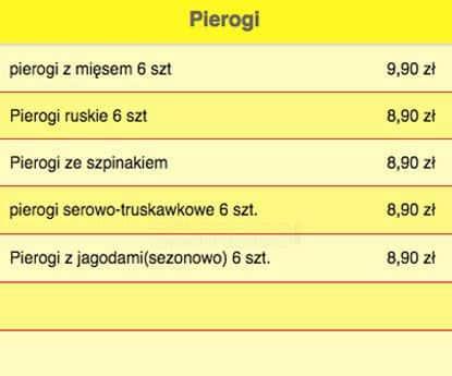 Menu At Obiady Domowe Restaurant Poznań Osiedle Zwycięstwa 110