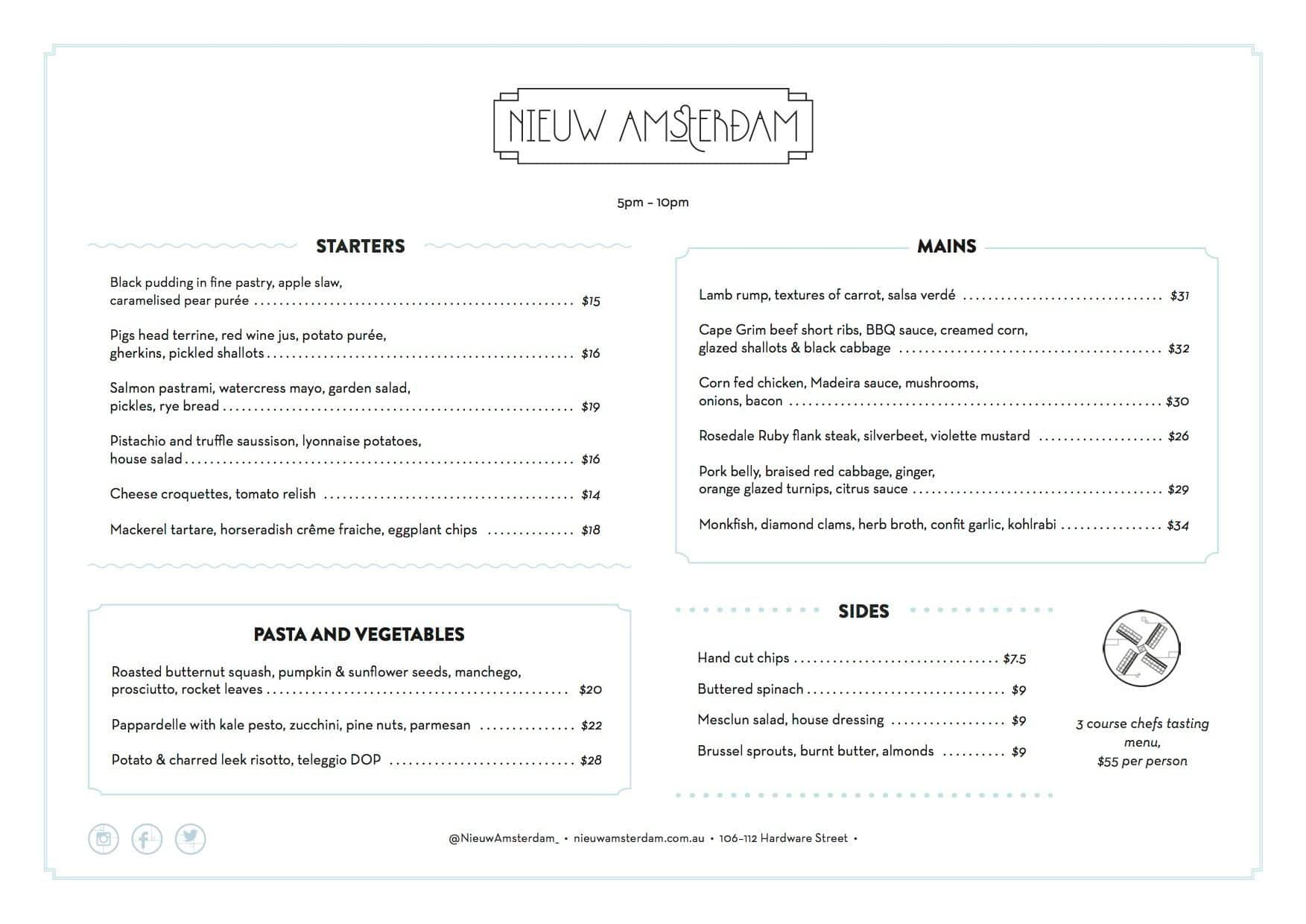 Menu at nieuw amsterdam 106 112 hardware st restaurant prices the restaurant information including the nieuw amsterdam menu items and prices may have been modified since the last website update publicscrutiny Image collections
