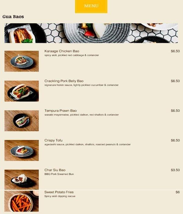 mr bao cbd menu