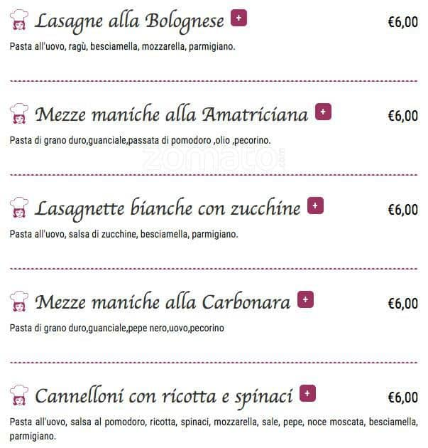 La Cucina di Flò Menu, Menu for La Cucina di Flò, Roma 70, Roma ...