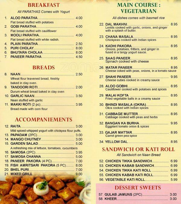 South City Kitchen Menu: Desi Deli Menu, Menu Podniku Desi Deli, Hell's Kitchen