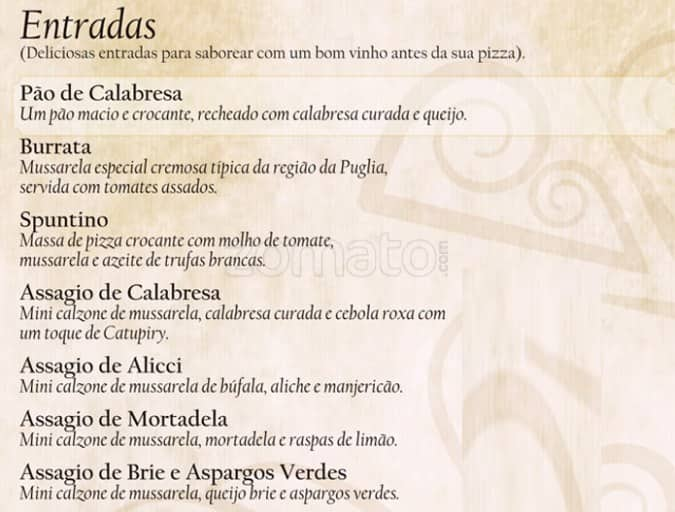 6c51d1a10c0 Pizzaria Nacional Menu