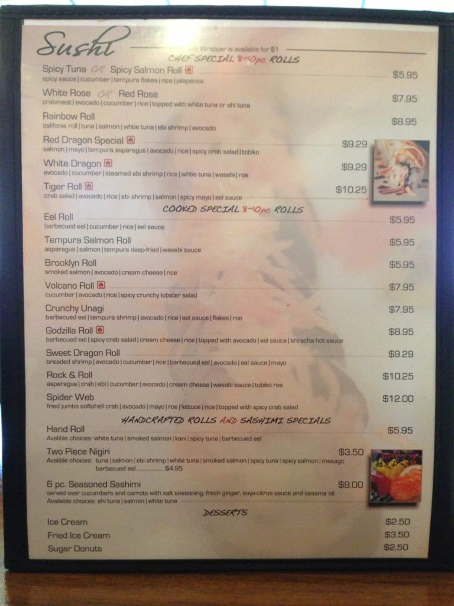 hosabi kitchen menu menu for hosabi kitchen morristown