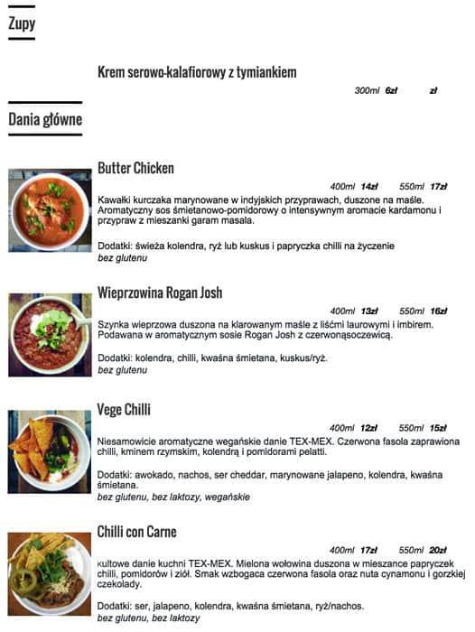 pot spot menu menu restauracji pot spot sadyba warszawa gastronauci zomato