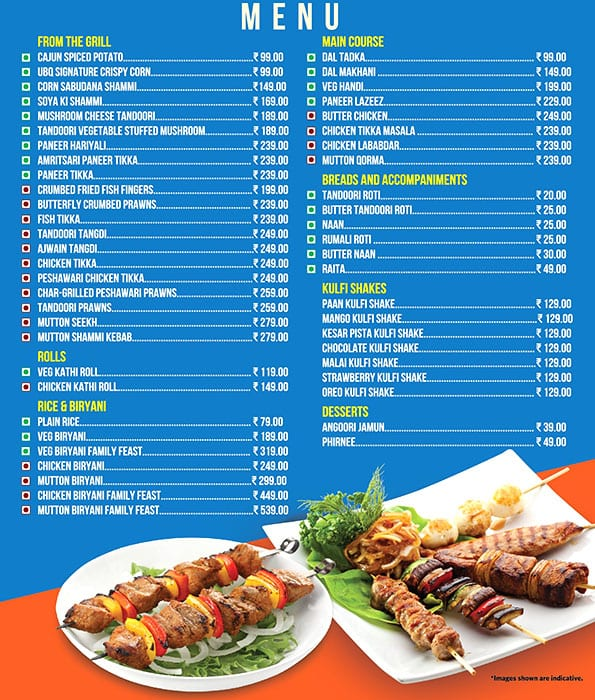 Ubq By Barbeque Nation Menu Menu For Ubq By Barbeque Nation