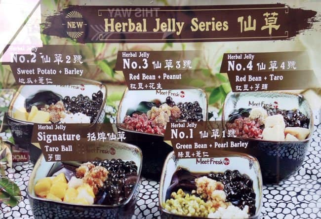 meet fresh Meet fresh, a taiwanese-based chain known for their herbal grass jelly and taro ball desserts, opened a us branch in irvine last summer for those unfamiliar, grass jelly is an asian dessert, usually served sweetened and chilled, with a texture much like jell-o.