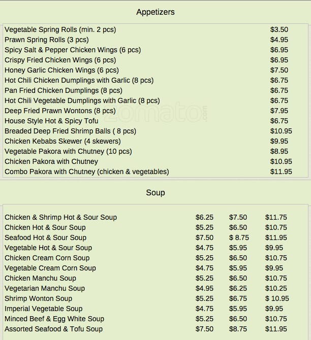 Chili S Restaurant Menu For Two