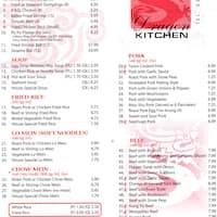 Menu for Dragon Kitchen, Jefferson City