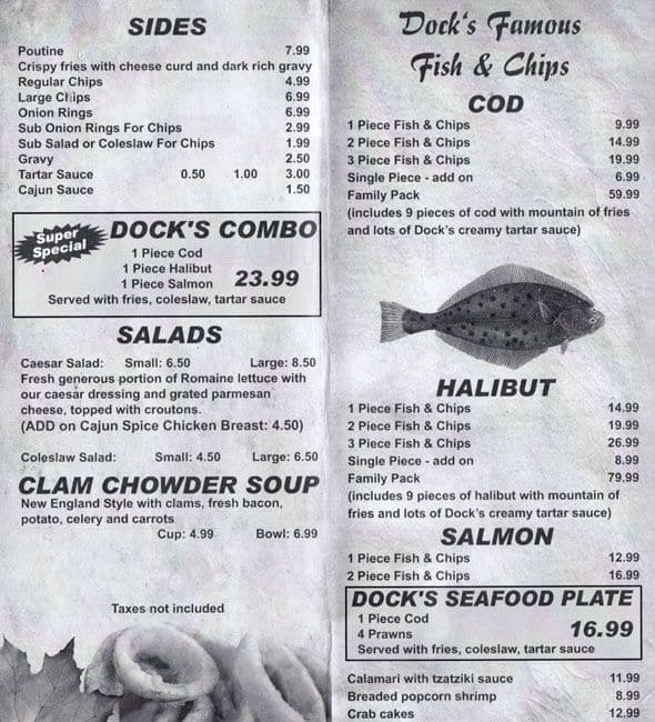 Dock 39 s fish chips menu urbanspoon zomato for Two fish menu