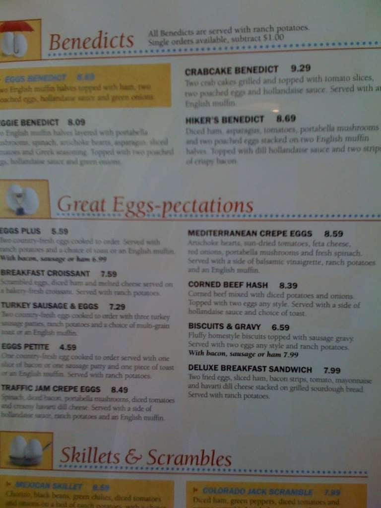 The Egg I Menu Menu For The Egg I Tyler Tyler Urbanspoon Zomato