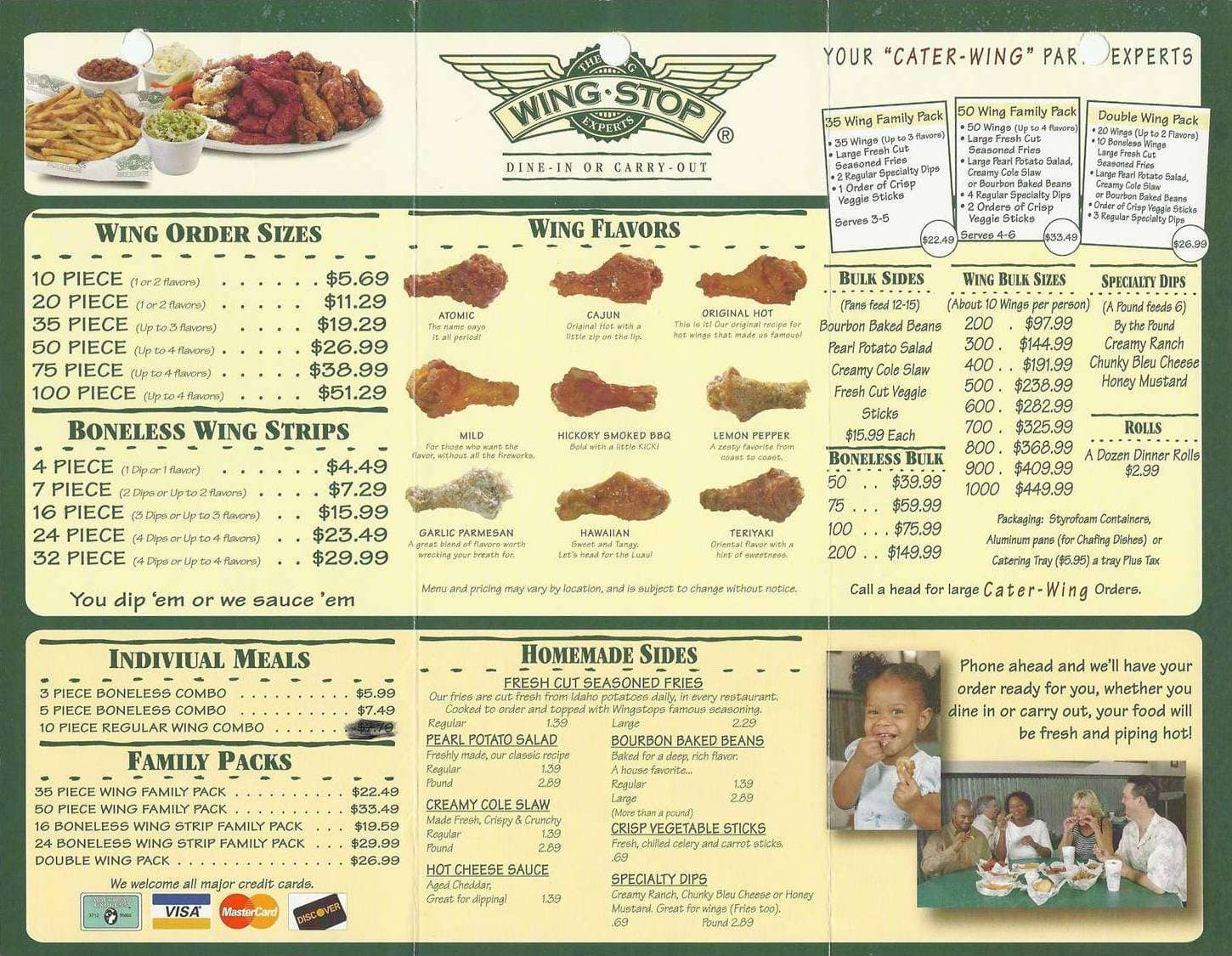 It is a photo of Nerdy Wingstop Printable Menu