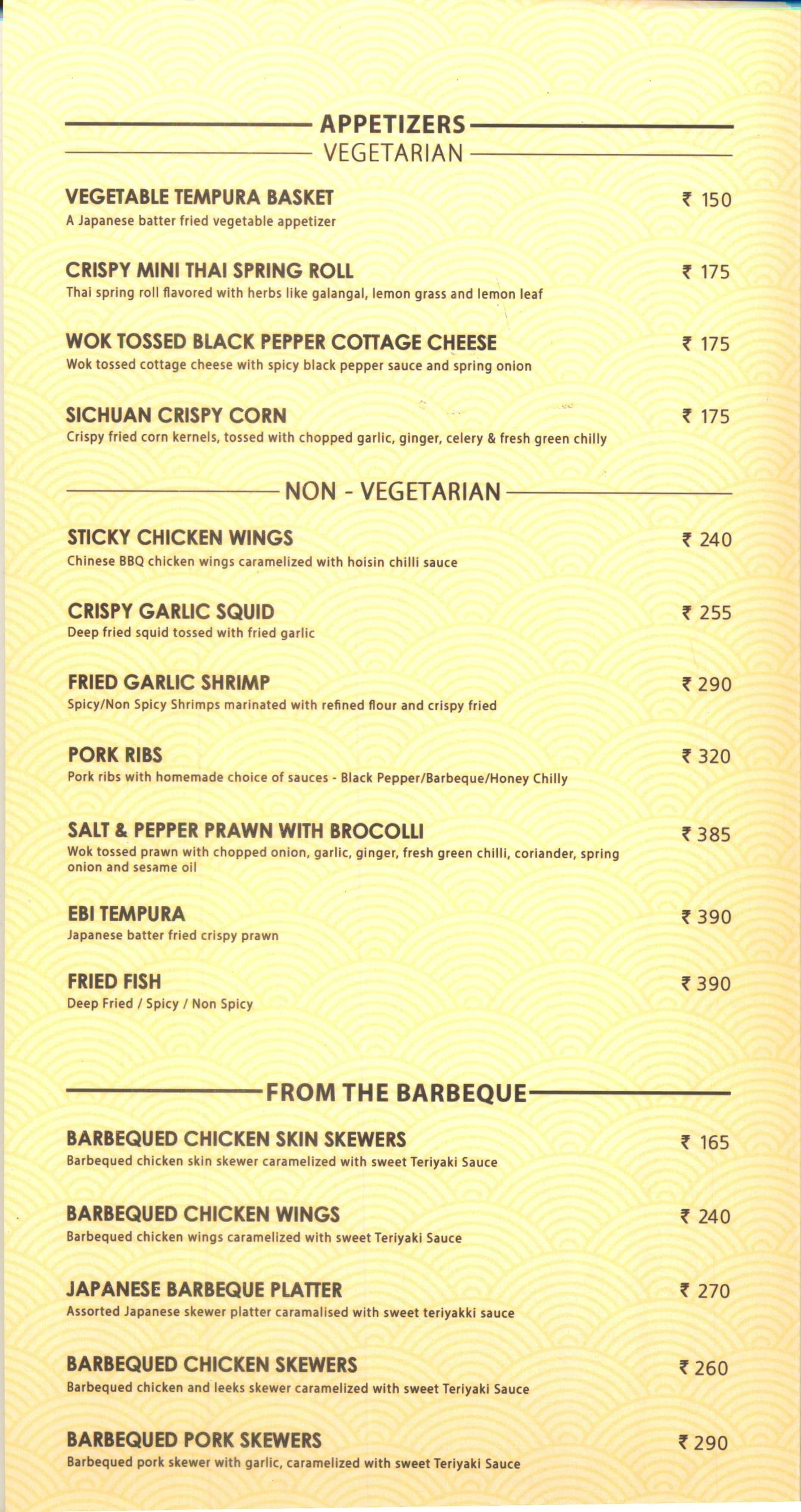 Superb The Asian Kitchen By Tokyo Bay, Fort Kochi Menu