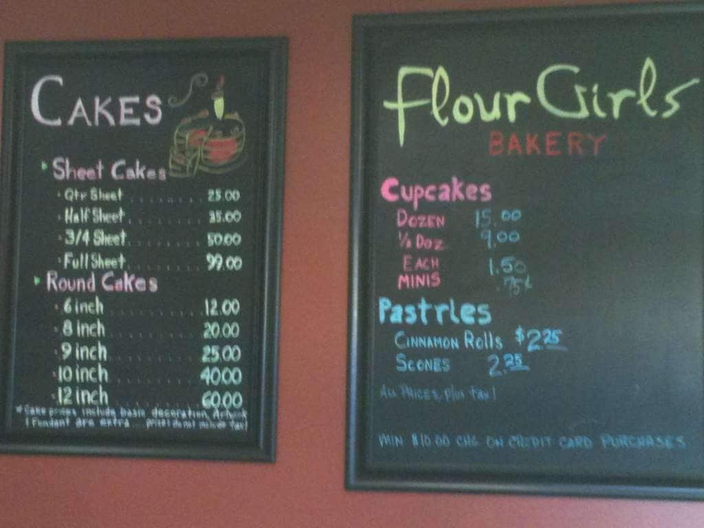 Flour Girls Bakery Mobile Menu