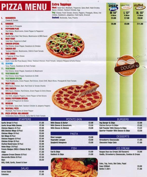 I Pizza Menu Menu For I Pizza Acton London Zomato Uk