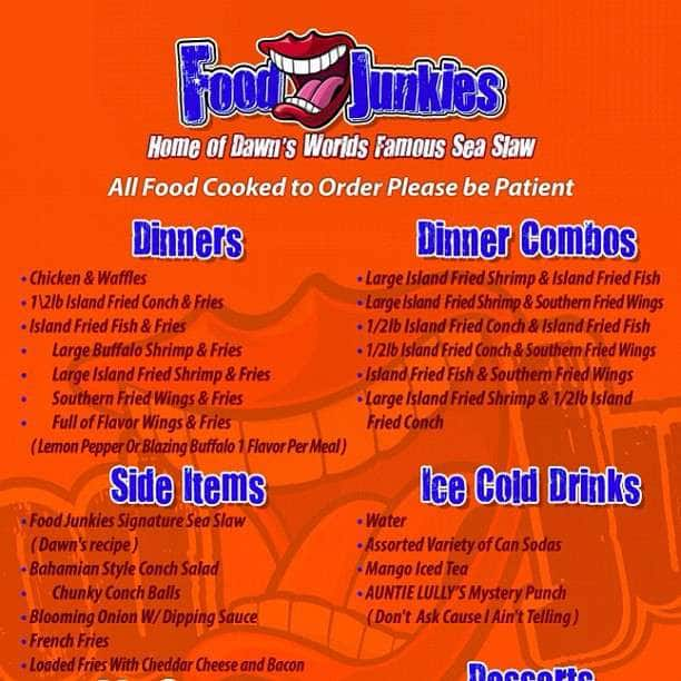 Food junkies menu menu for food junkies allapattah miami food junkies forumfinder Images