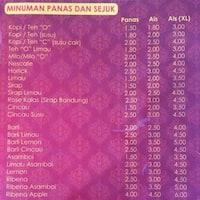 Scanned Menu For Dapur Sarawak