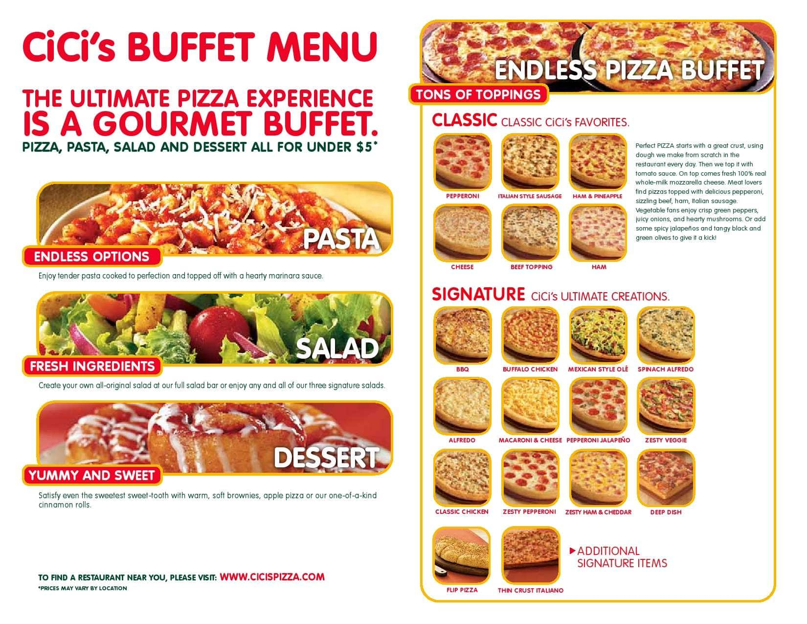 cici s pizza menu menu for cici s pizza margate miami rh zomato com cc pizza buffet hours cici's pizza buffet near me