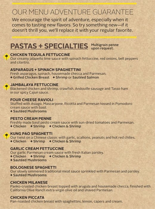 amazing California Pizza Kitchen Charlotte #4: California Pizza Kitchen, Airport: Charlotte Douglas Menu