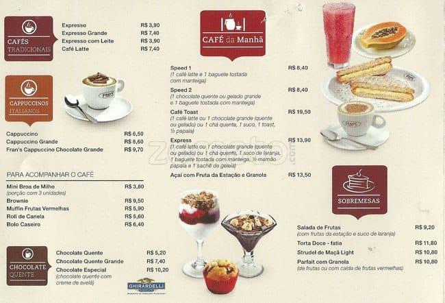 Menu Zona Cafe
