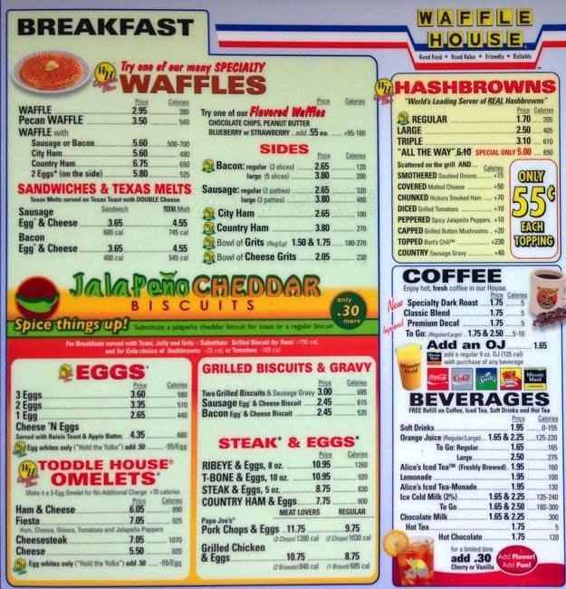 Waffle House Menu, Menu for Waffle House, Windsor Park, Austin ... | 625 x 650 jpeg 126kB