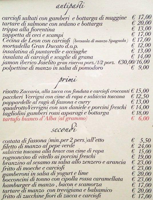 Casa Lucia a Milano: Foto del Menu con Prezzi - Zomato Italia