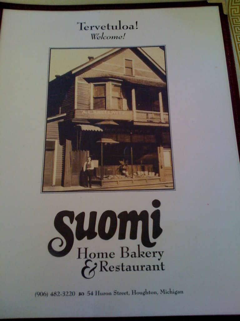 Suomi Home Bakery Restaurant Houghton Menu