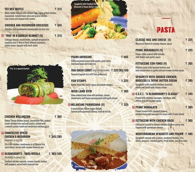 Bloomsbury 39 s boutique cafe and artisan bakery menu zomato for Artisan cuisine of india