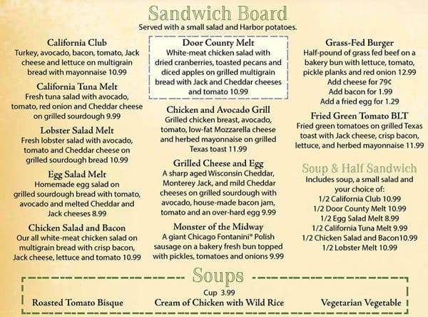 Egg Harbor Cafe Menu With Prices