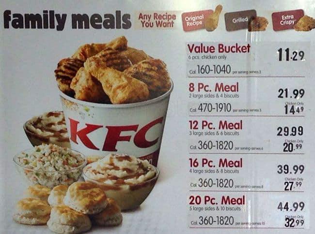 KFC Menu, Menu for KFC, Harlem, New York City - Urbanspoon ...