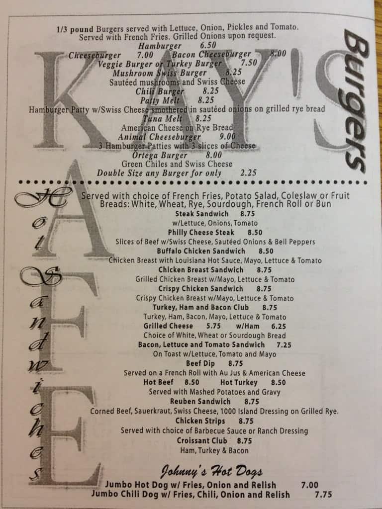 Kay S Kafe Menu Menu For Kay S Kafe West Phoenix Phoenix