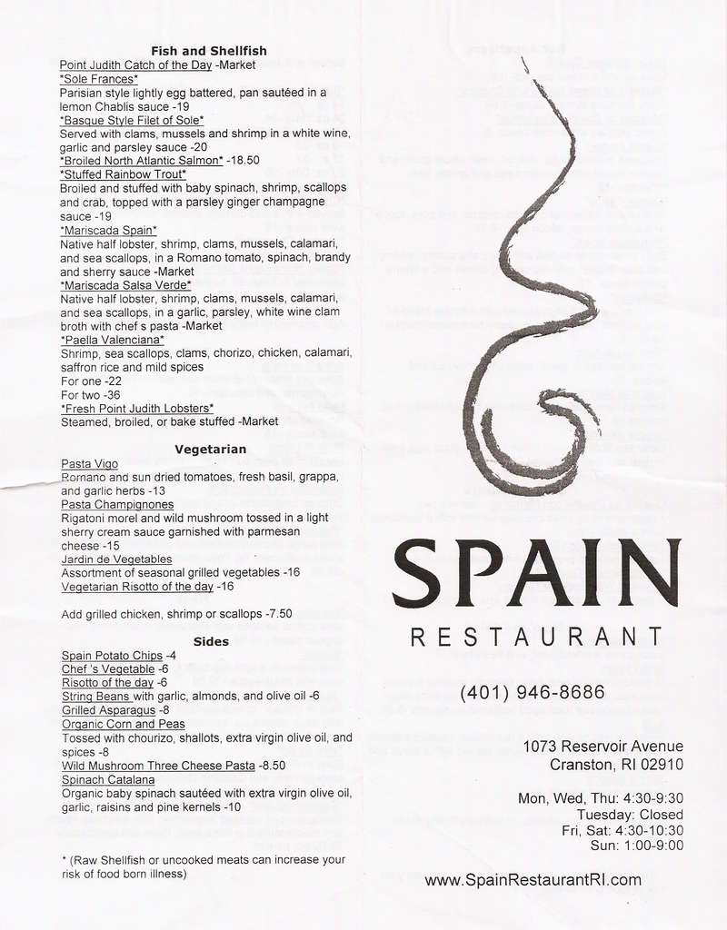 Related to Spain Restaurant, Cranston Restaurants in Providence, Providence Restaurants, Cranston restaurants, Best Cranston restaurants, Greater Providence restaurants, New Year Parties in Providence, Christmas' Special in Providence.
