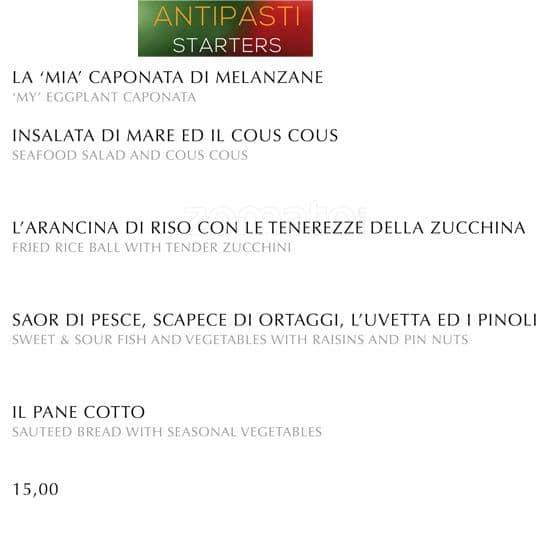Ristorante filippo la mantia menu zomato italia for Ristorante filippo la mantia milano