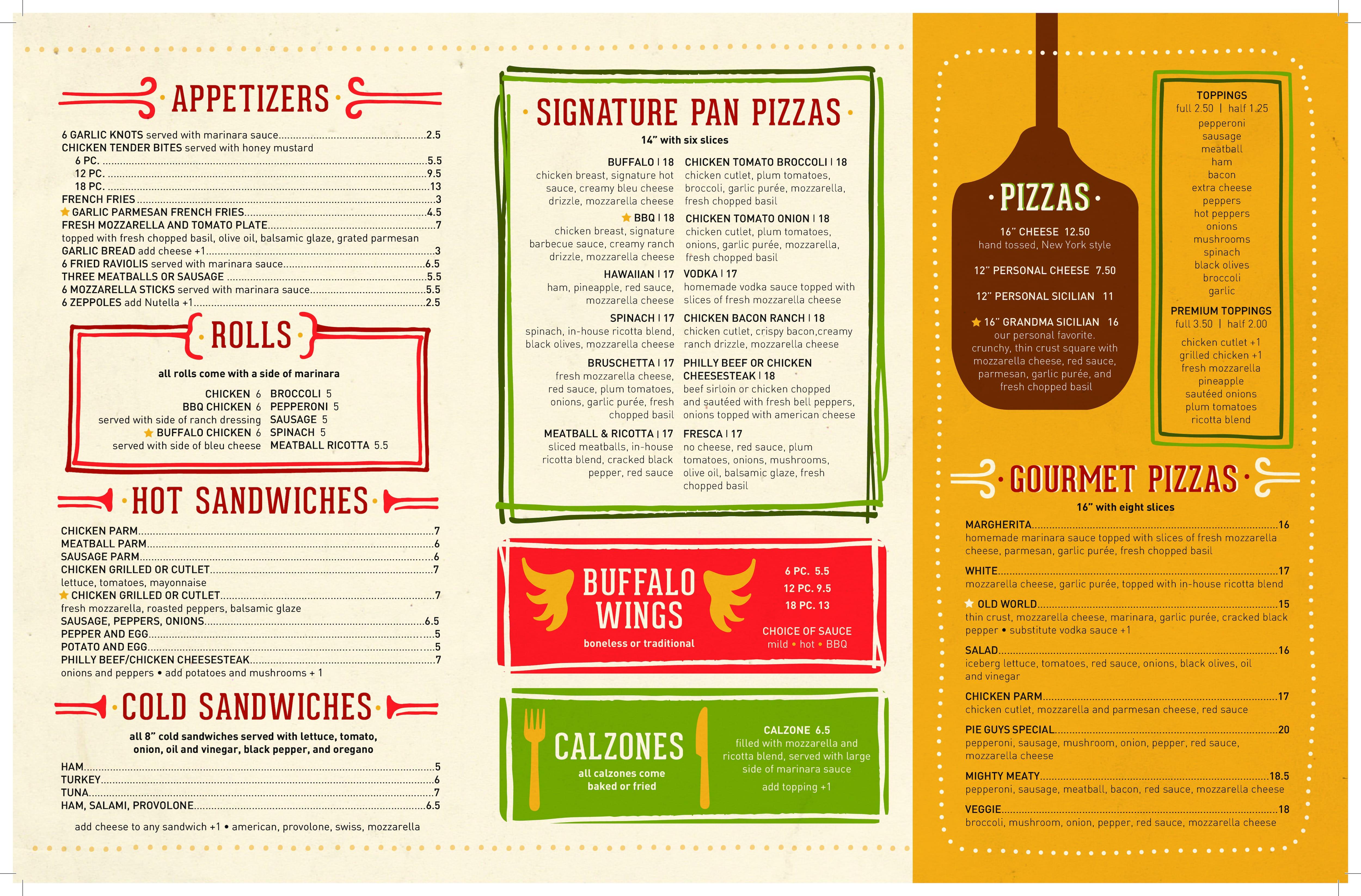 Pie Guys Pizza Wayne Menu  sc 1 st  Zomato & Pie Guys Pizza Menu Menu for Pie Guys Pizza Wayne Wayne ...