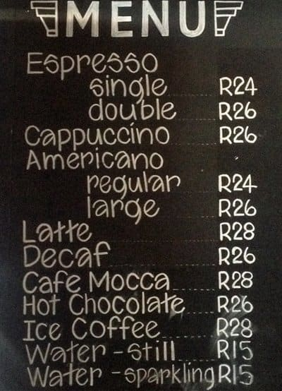 Truth Coffee Menu Menu For Truth Coffee V A Waterfront Cape