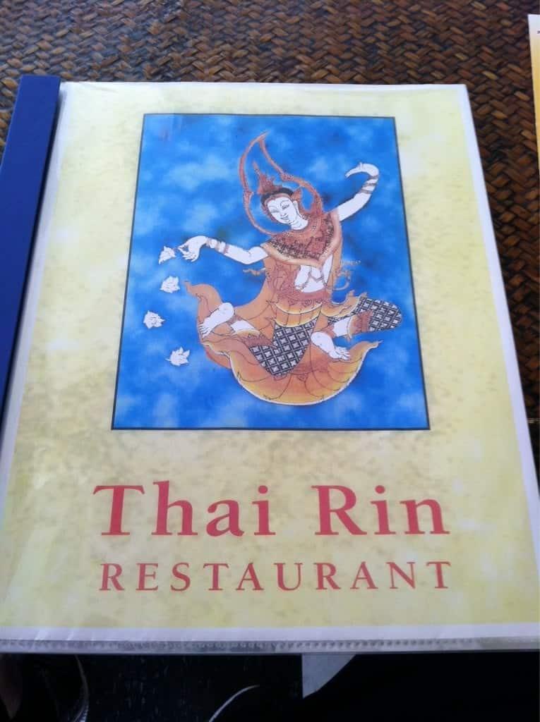 Thai Rin Restaurant Kona Menu