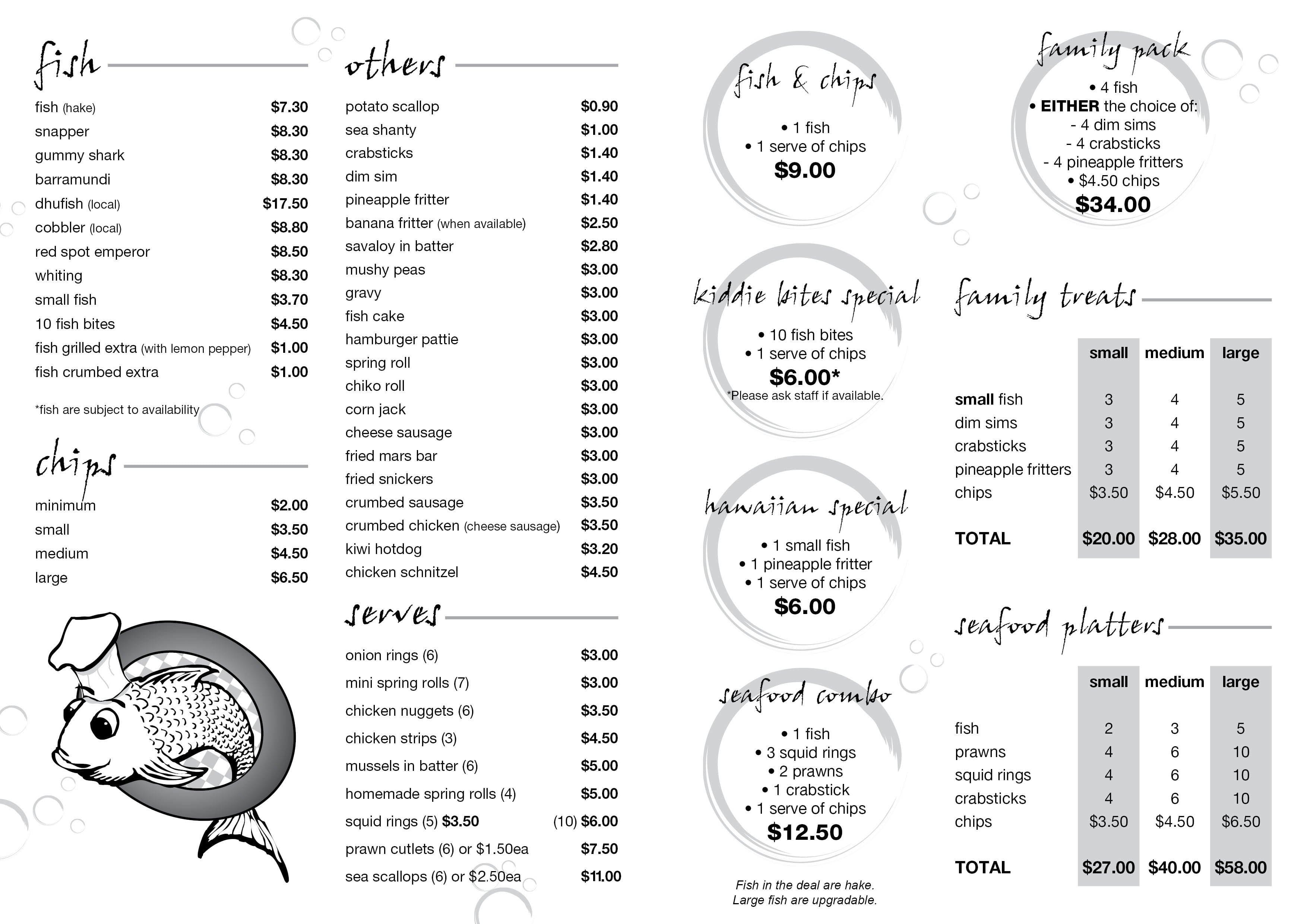 Ballajura city fish chips menu urbanspoon zomato for City fish menu