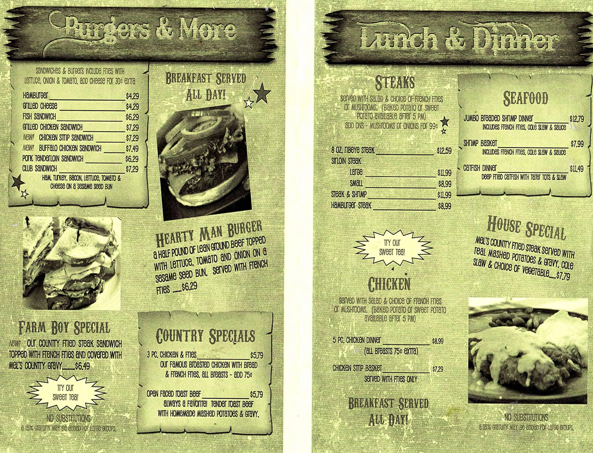 Mel\'s Country Cafe, Jefferson City, Columbia - Urbanspoon/Zomato