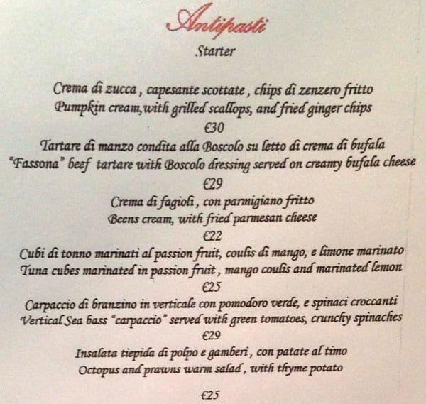 Oltremare Boscolo Milano Menu Zomato Italy