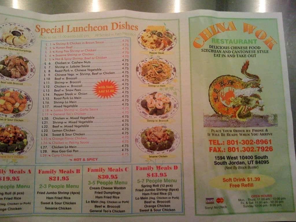 South Jordan Utah Chinese Restaurants