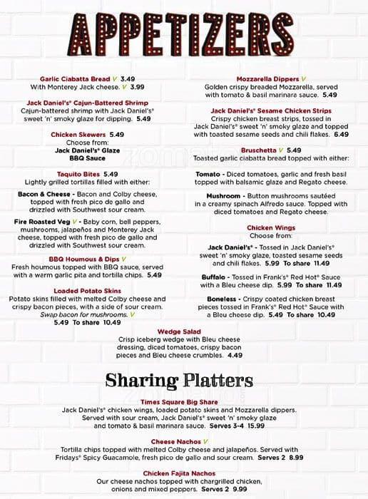 tgif uk menu