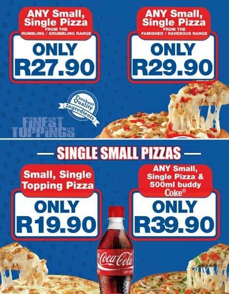 romans pizza menu