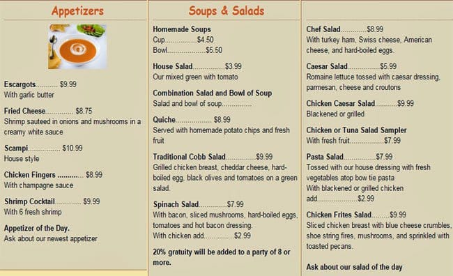 Bonjour Cafe Menu Prices