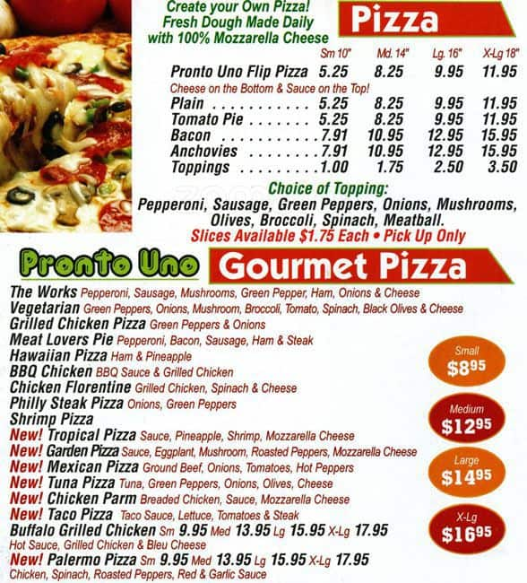 Pronto Uno Pizza Lawncrest Philadelphia क मन
