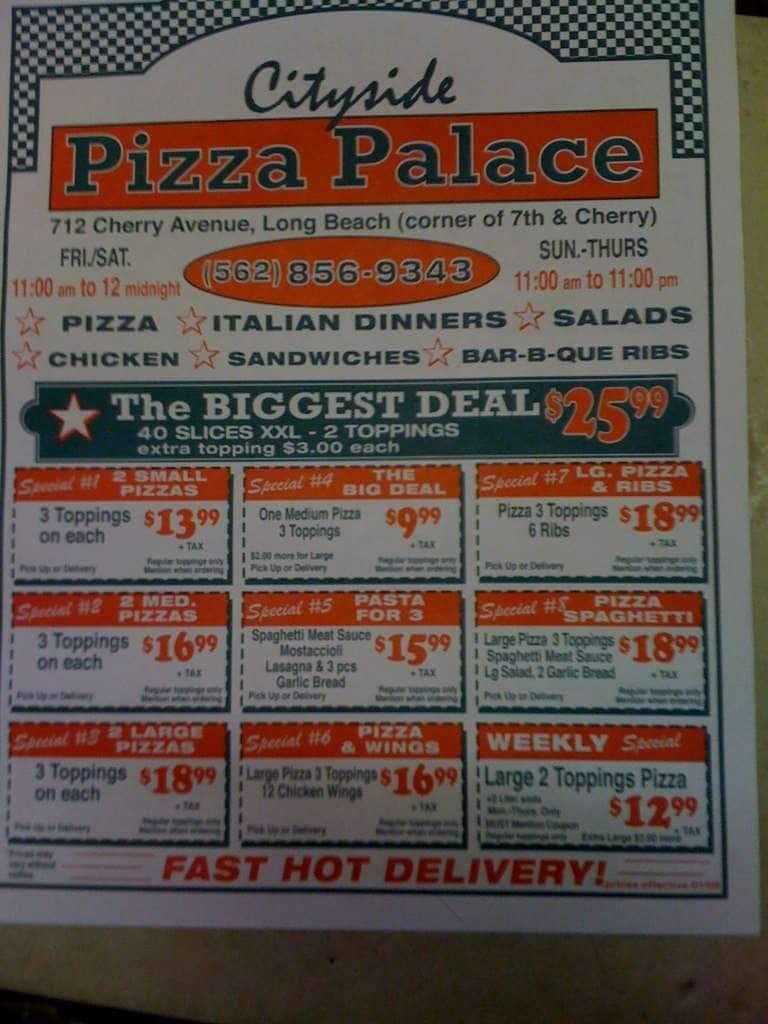 Cityside Pizza Palace Rose Park Long Beach क मन